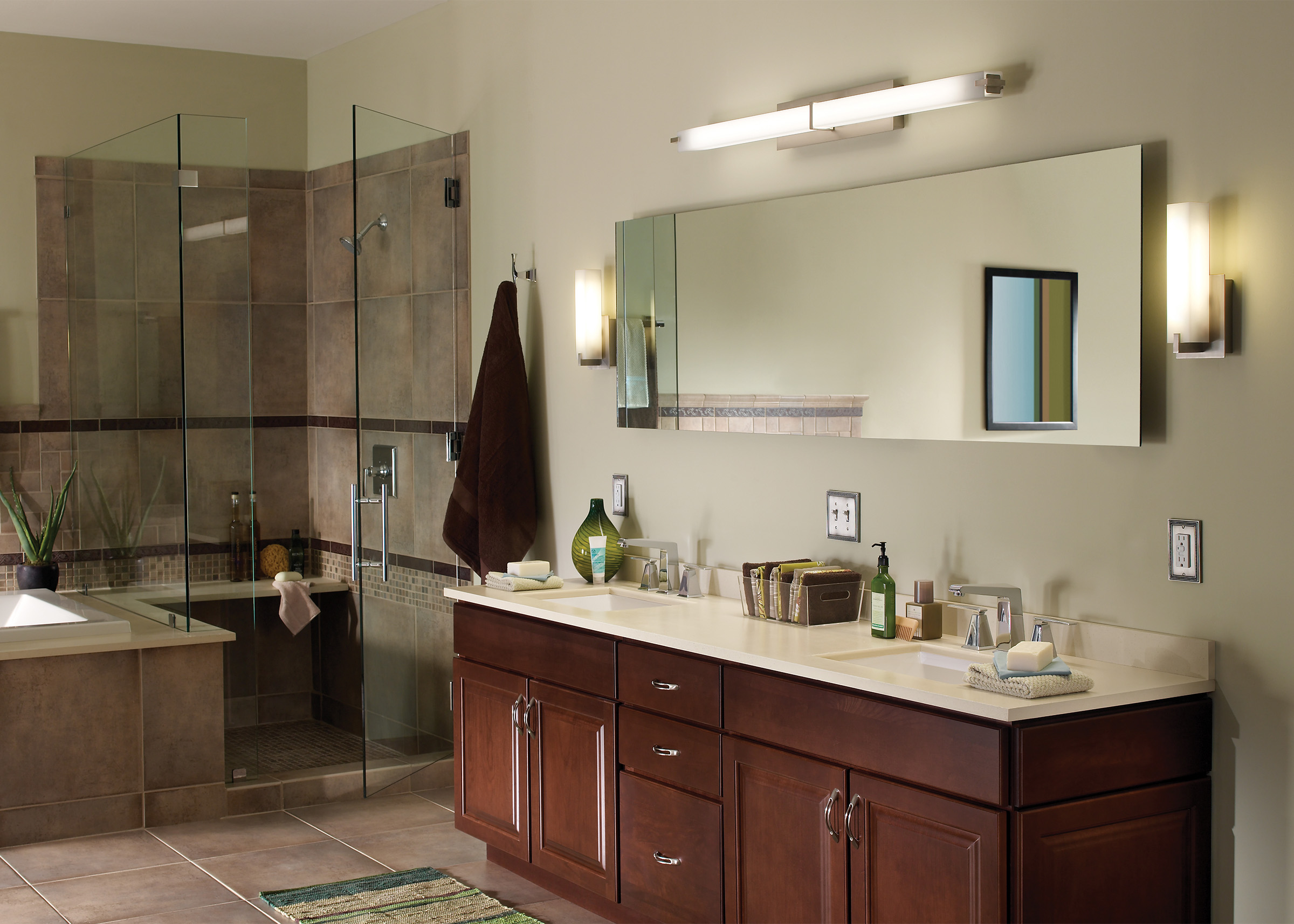 Do I Need Damp Rated Lights For My Bathroom Flip The Switch - Modern bathroom lights over mirror