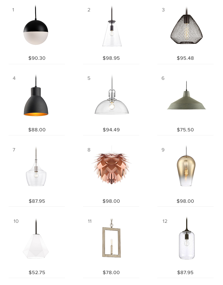 pendant lights under $100