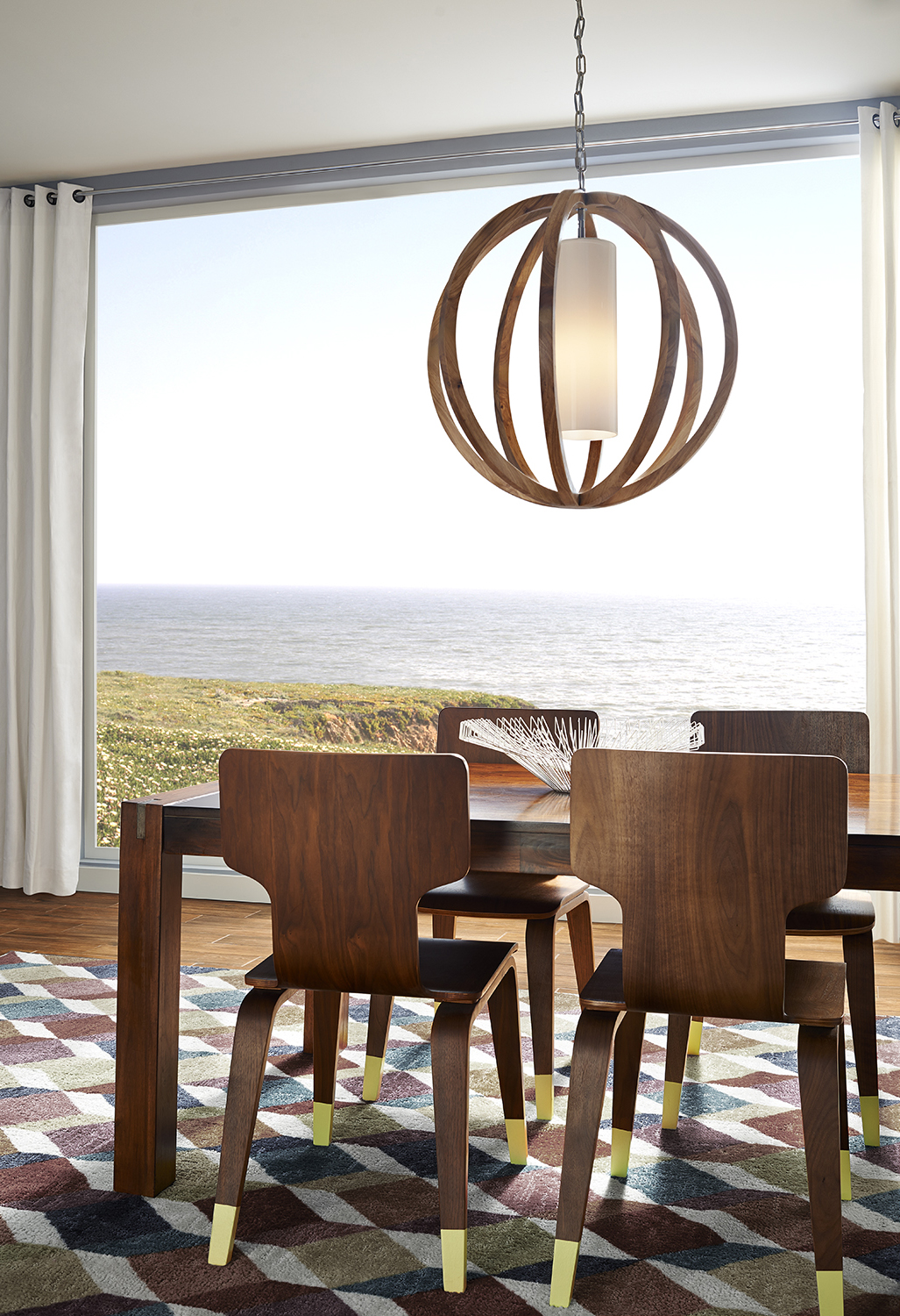 Light Fixture Finishes Allier in Light Wood by Feiss