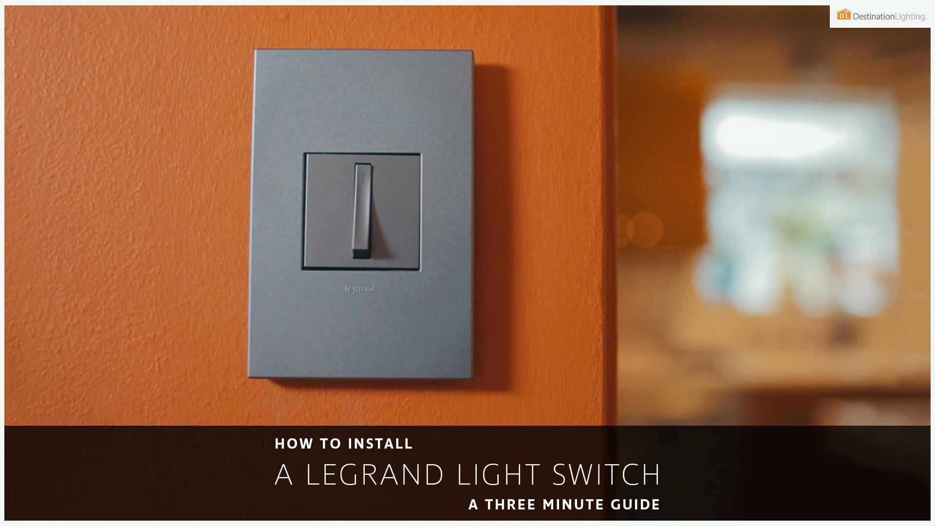 Spotlight Installing A Legrand Light Switch Flip The 2 Way