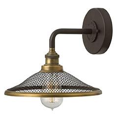 industrial lighting rigby sconce by hinkley lighting