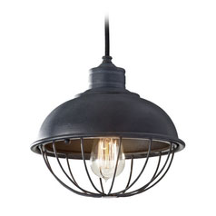 industrial lighting retro cage pendant by feiss lighting
