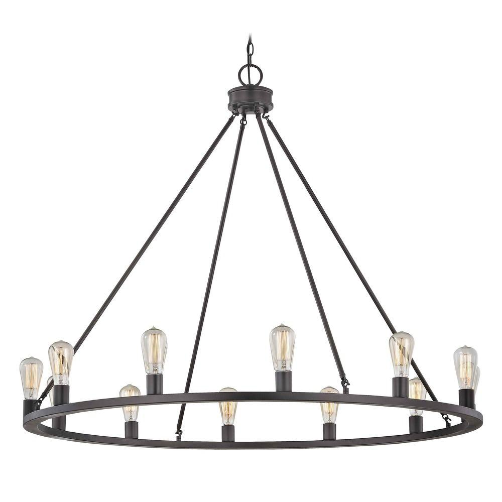 industrial lighting round chandelier