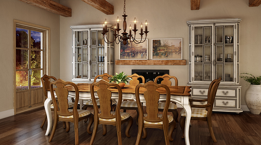 French Country Dining Room Holbrook By Quoizel Lighting
