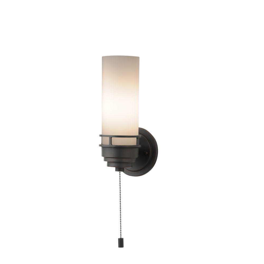 single light wall light pull chain