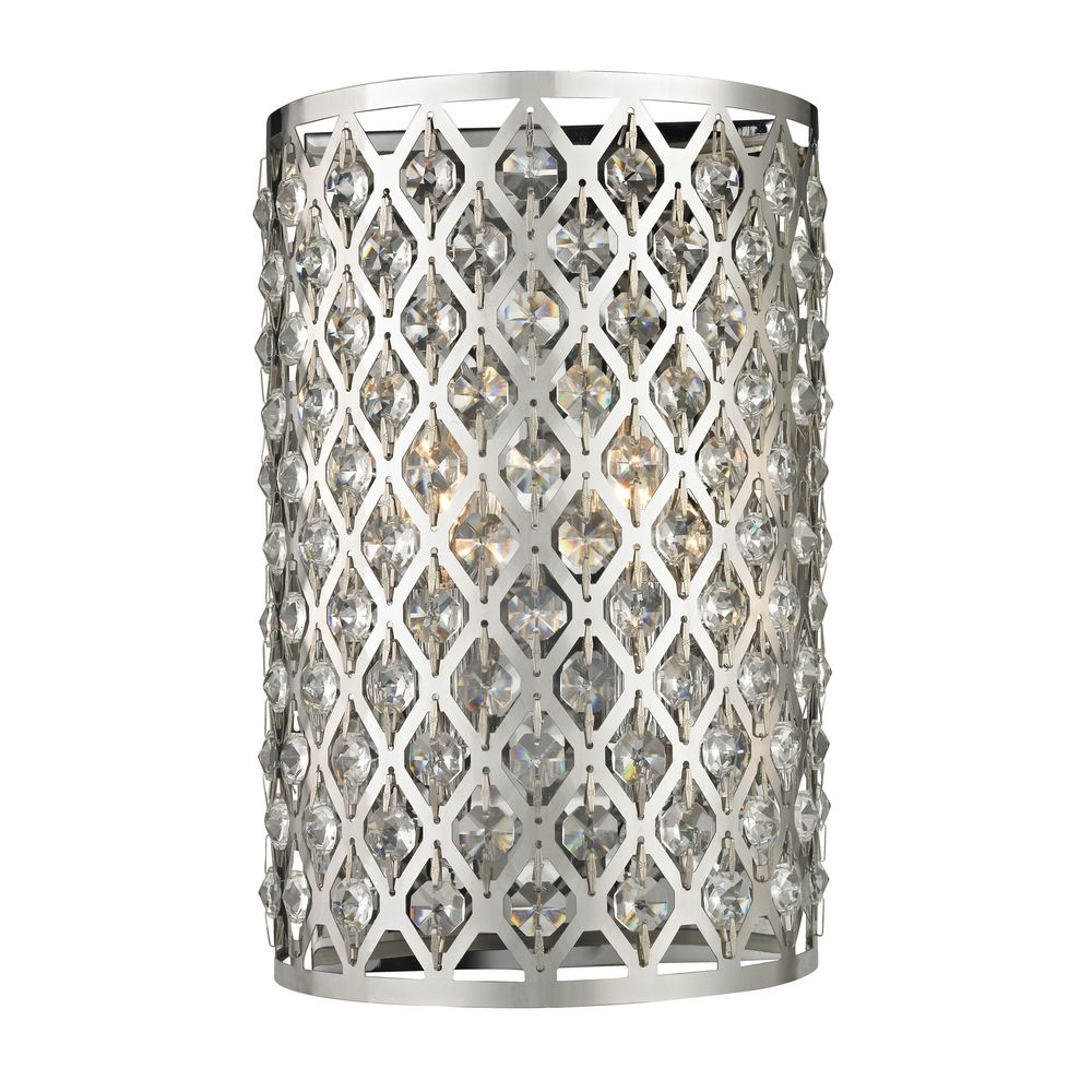 Modern Crystal Wall Sconce with Two Lights By: Ashford Classics Lighting