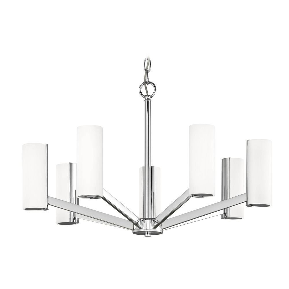 Modern LED Chandelier with 7 Lights Chrome Finish By: Dolan Designs