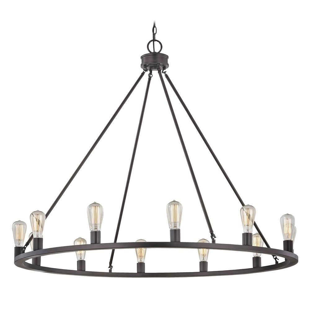 Industrial Round Chandelier Bronze By: Design Classics Lighting
