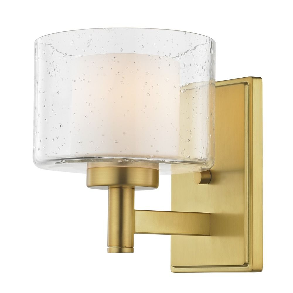 Seeded Glass Sconce Brass By: Design Classics Lighting