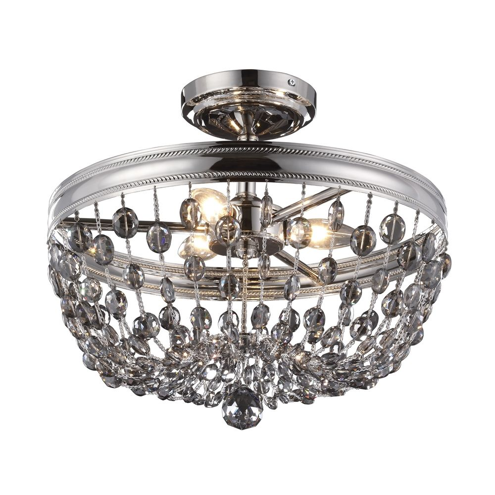 Feiss Lighting Malia Polished Nickel Semi-Flushmount Light