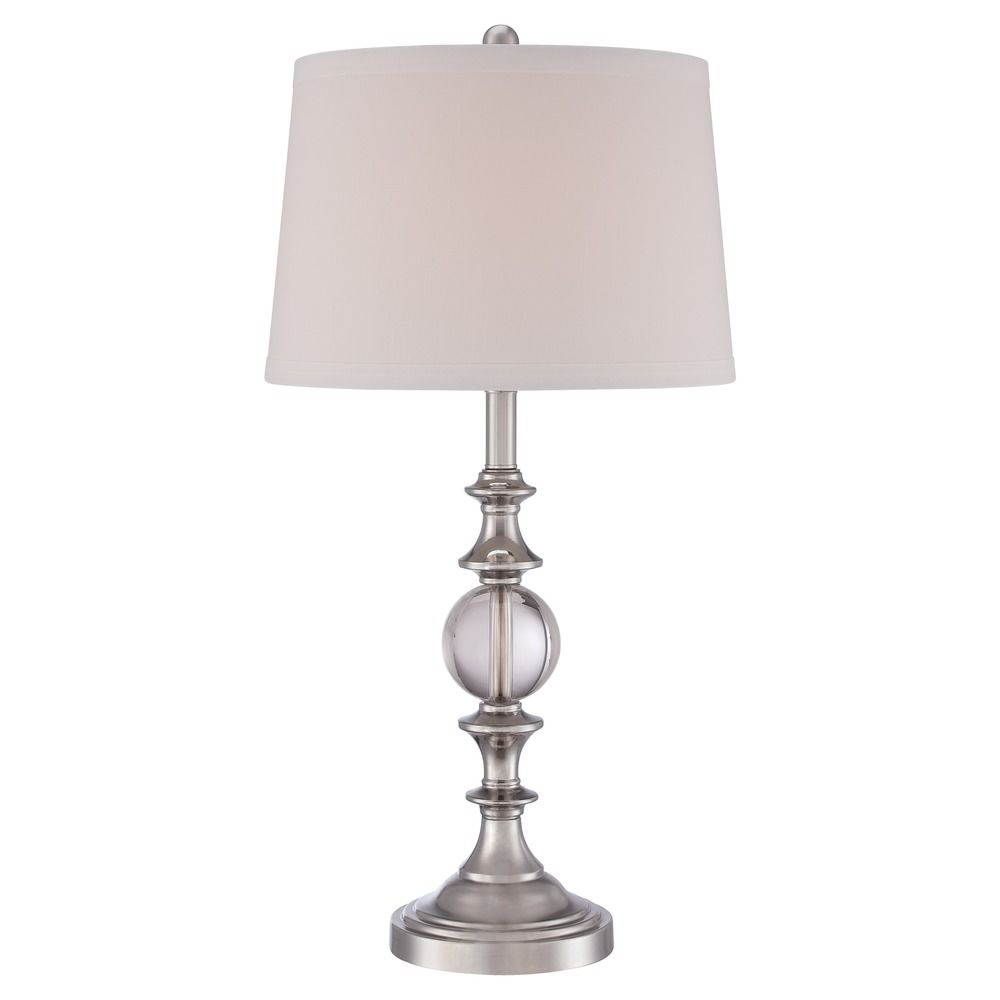Quoizel Brushed Nickel Table Lamp with Empire Shade