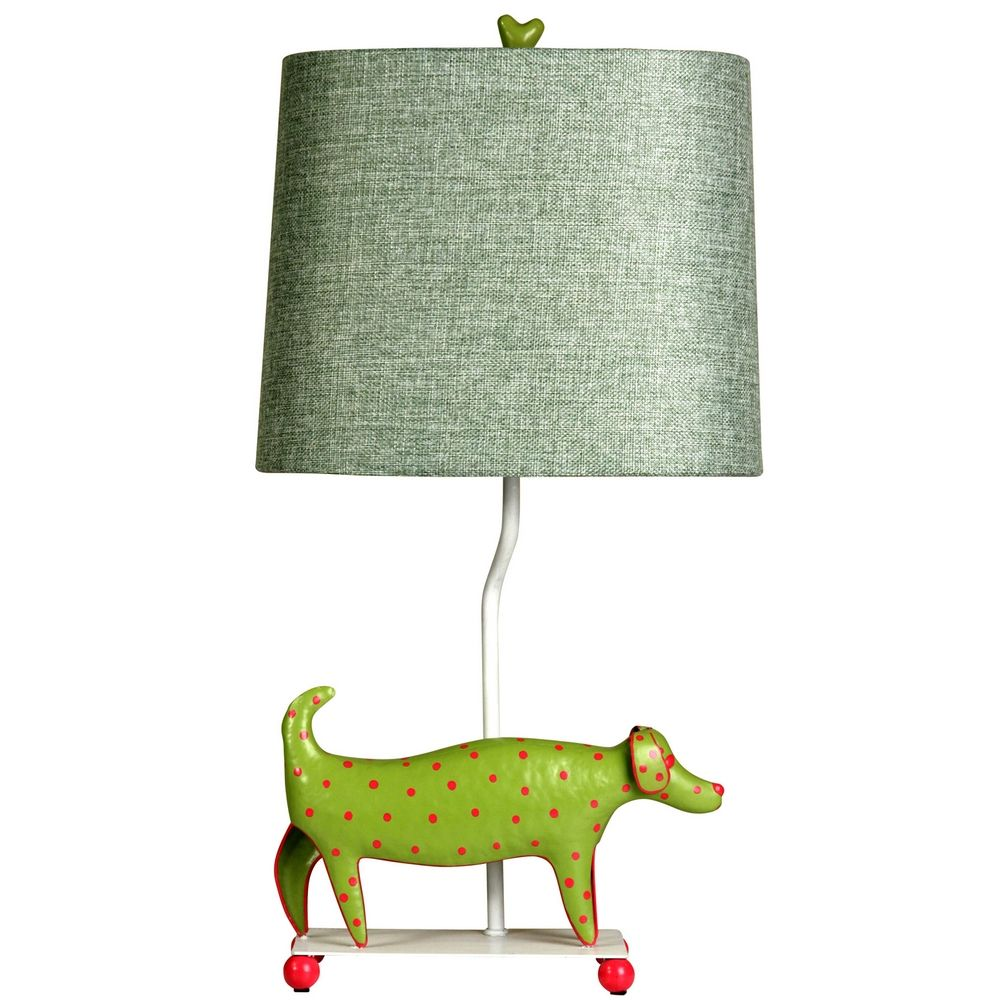 Stylecraft Mini-Dog Green Table Lamp By: StyleCraft