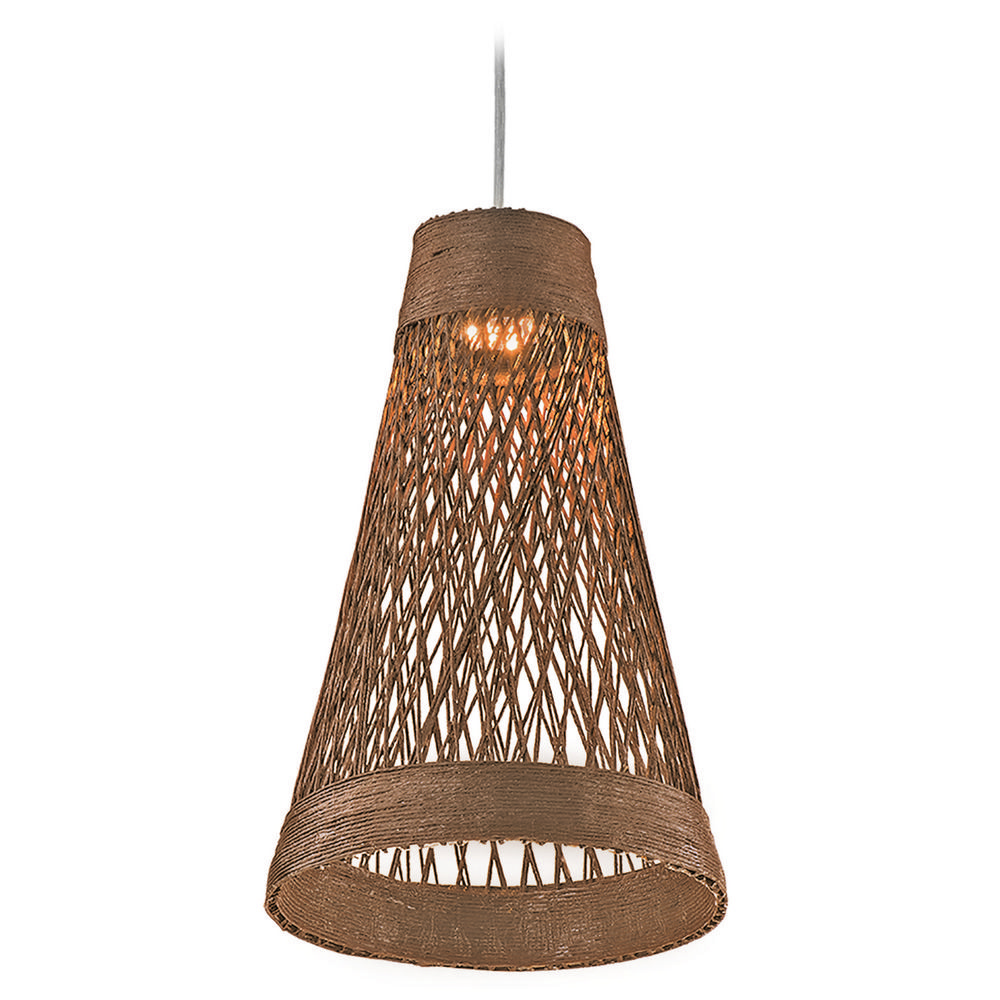 Maxim Lighting Bahama Natural LED Mini-Pendant Light with Bowl / Dome Shade By: Maxim Lighting