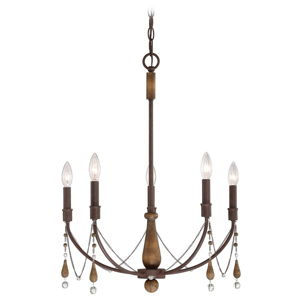 Quoizel Lighting Concord Tuscan Brown Chandelier By: Quoizel Lighting