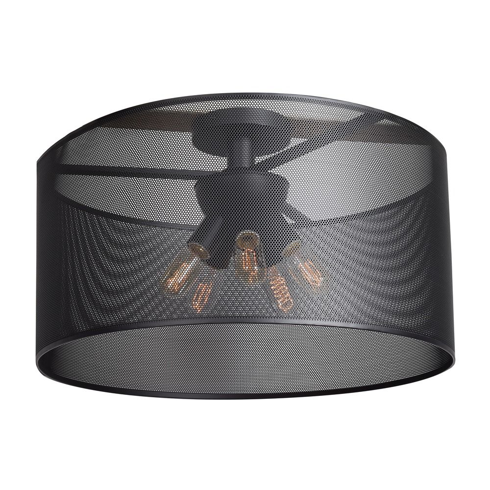 Mid-Century Modern Semi-Flushmount Light Black Epic by Access Lighting