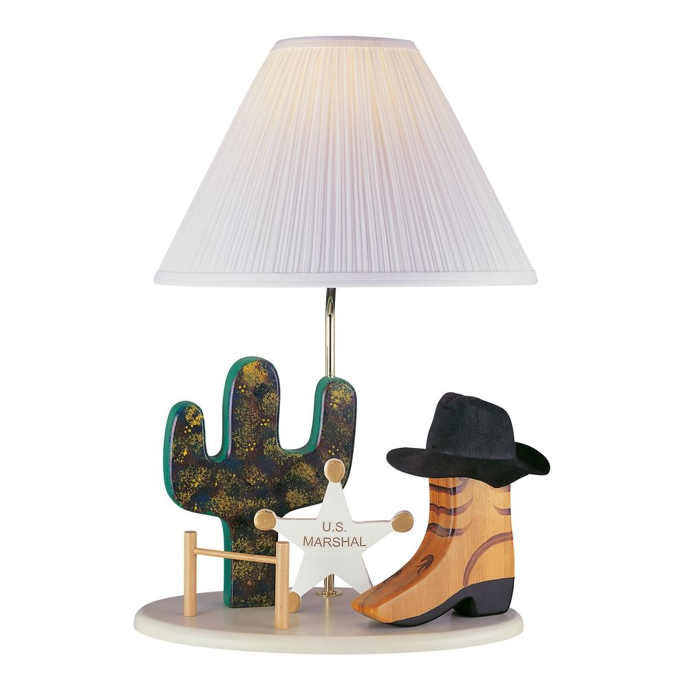 Lite Source Lighting Cowboy Lamp Beige Table Lamp with Empire Shade By: Lite Source Lighting