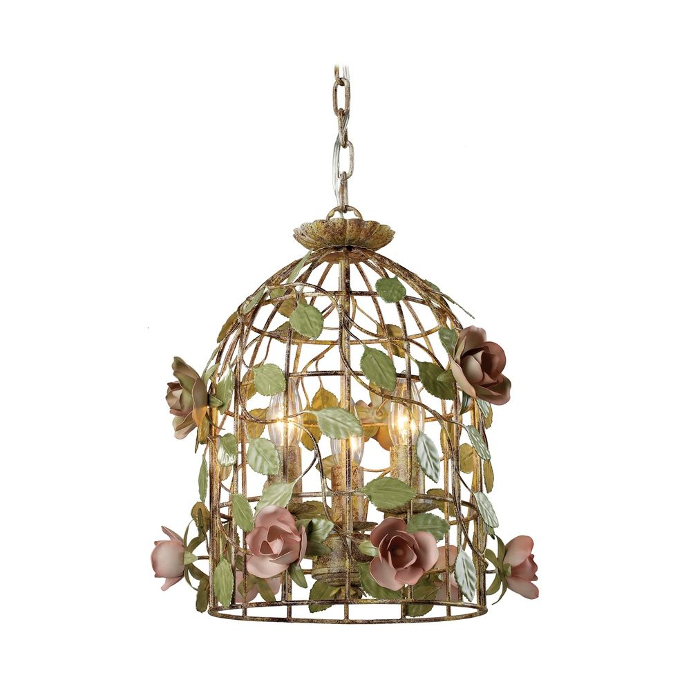 Bird Cage Drum Pendant Light By: Sterling Lighting
