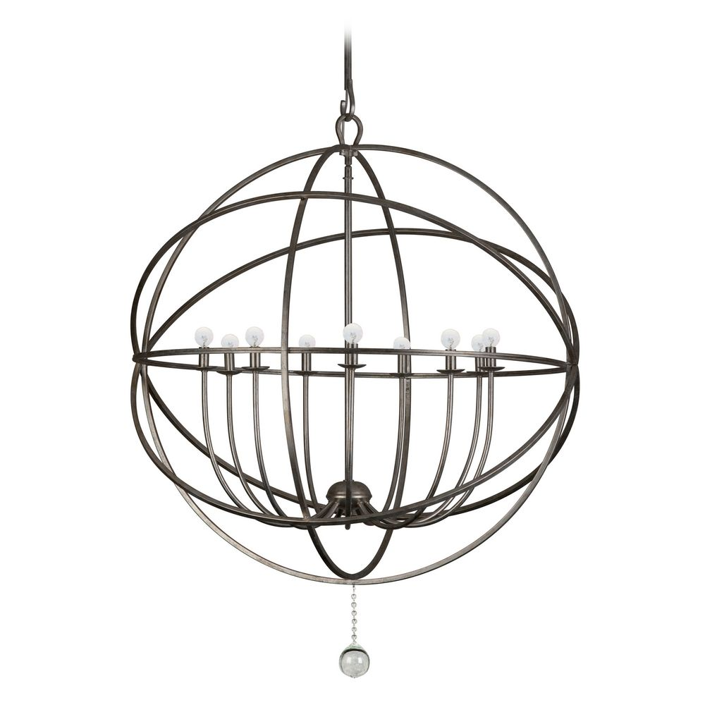 Chandelier in English Bronze Finish By: Crystorama Lighting