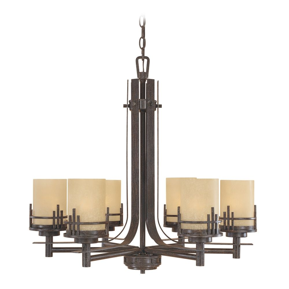 mission and craftsman lighting chandelier