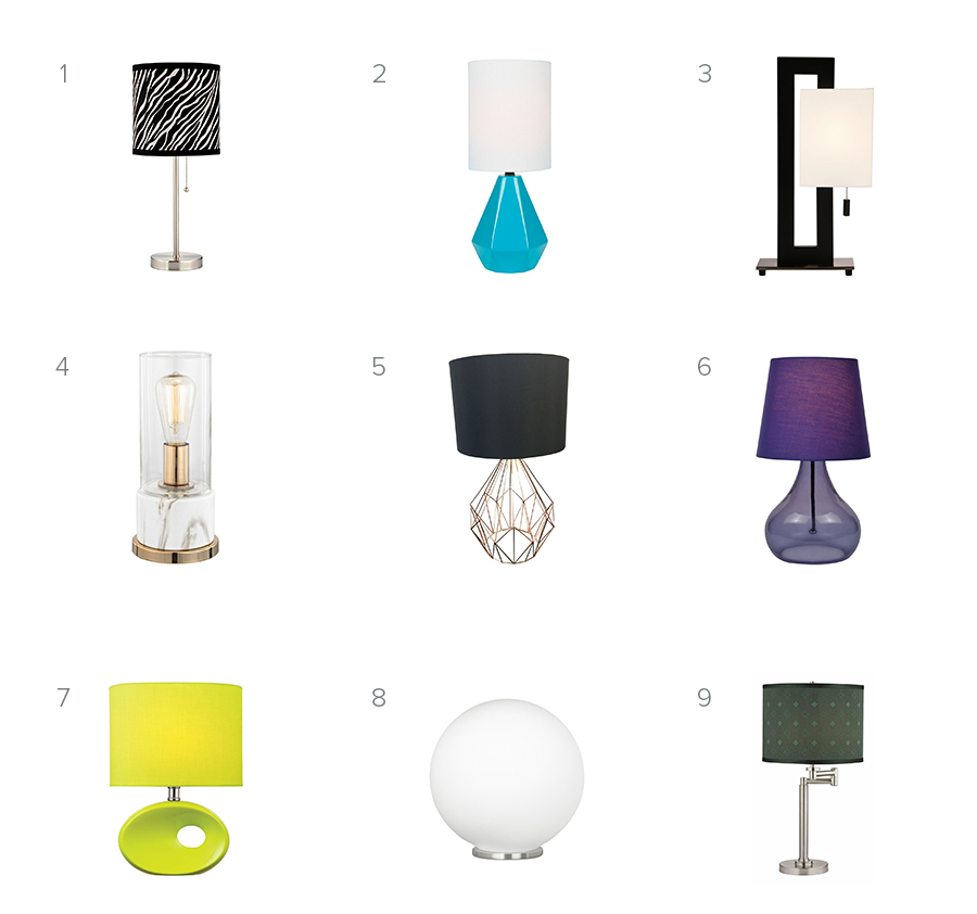 Back to School Table Lamps