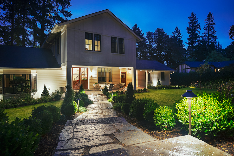 Emily Henderson Portland House - Security Lighting Tips for Holiday Travel