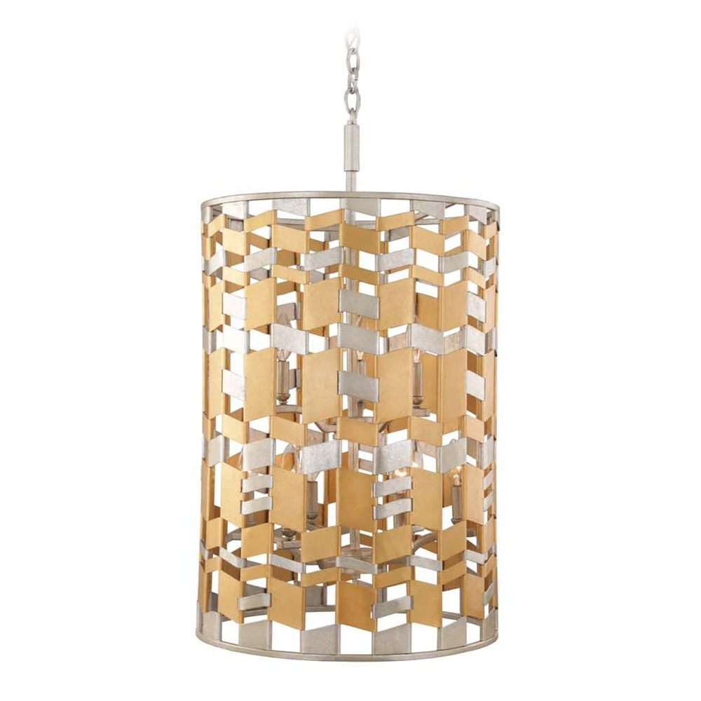 Broadway pendant by kuzco mixed metal finish