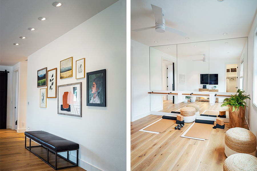 Gallery Wall & Workout Room