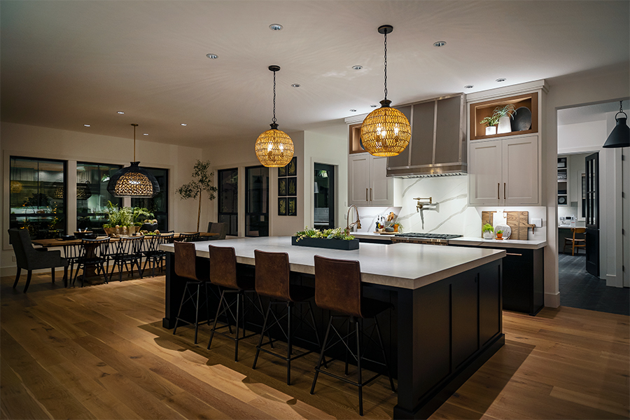 Lighting Design Farm to Table kitchen lighting