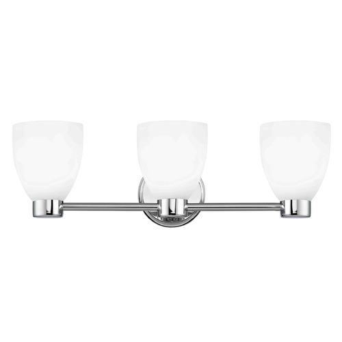 Design Classics Lighting Design Classics Aon Fuse Chrome Bathroom Light 1803-26 GL1028MB