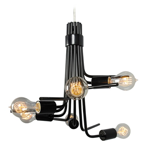 Varaluz Lighting Socket-To-Me Black Chandelier 219C06BL