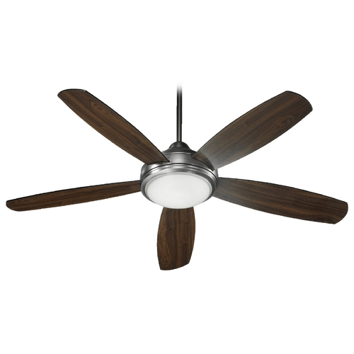 Quorum Lighting Quorum Lighting Colton Antique Silver Ceiling Fan with Light 36525-992