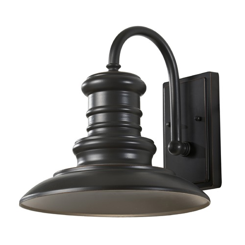 Feiss Lighting Feiss Lighting Redding Station Restoration Bronze LED Outdoor Wall Light OL8601RSZ-LED