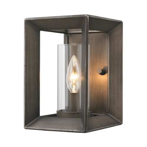 Golden Lighting Golden Lighting Smyth Gunmetal Bronze Sconce 2073-1W GMT