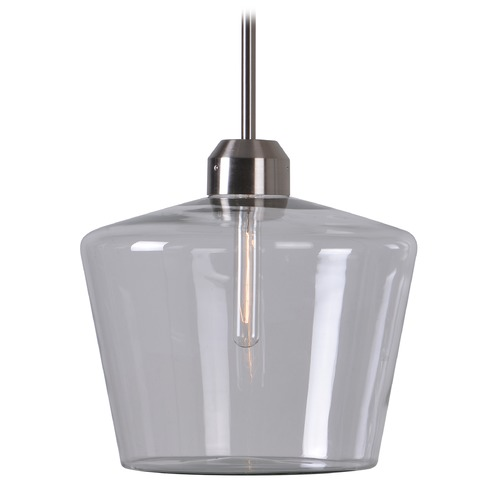 Kenroy Home Lighting Kenroy Home Abra Brushed Steel Pendant Light with Bowl / Dome Shade 93561BS