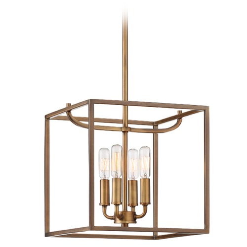 Designers Fountain Lighting Designers Fountain Uptown Old Satin Brass Pendant Light 88454-OSB