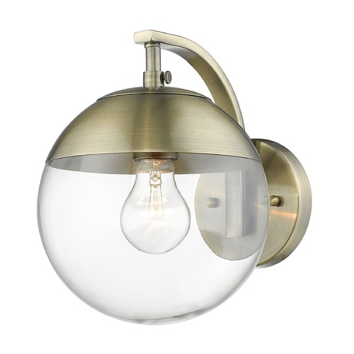 Golden Lighting Golden Lighting Dixon Aged Brass Sconce 3219-1WAB-AB