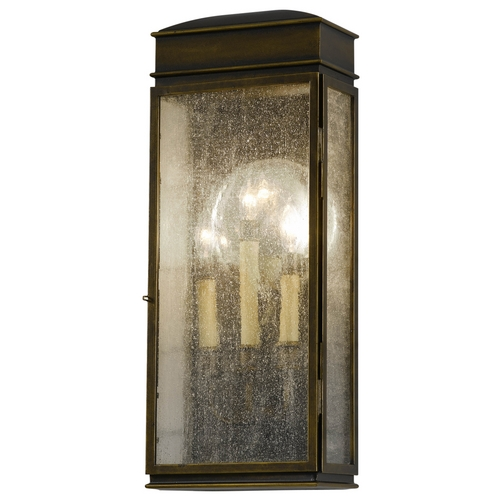 Feiss Lighting Outdoor Wall Light with Clear Glass in Astral Bronze Finish OL7402ASTB