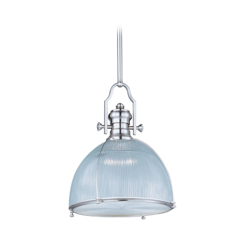 Maxim Lighting Modern Pendant Light with Clear Glass in Satin Nickel Finish 25004CLSN