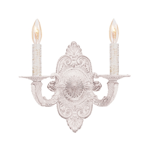 Crystorama Lighting Sconce Wall Light in Antique White Finish 5122-AW