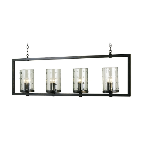 Currey and Company Lighting Modern Island Light with Clear Glass in Bronze Gold Finish 9742