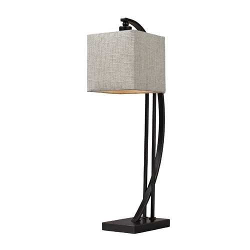 Dimond Lighting Table Lamp in Bronze with Square Shade D150