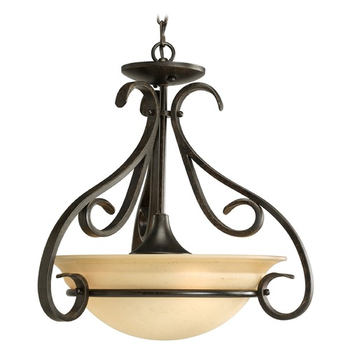 Progress Lighting Progress Pendant Light in Forged Bronze Finish P3843-77
