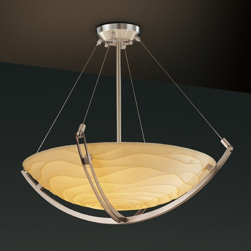 Justice Design Group Justice Design Group Porcelina Collection Pendant Light PNA-9722-35-WAVE-NCKL