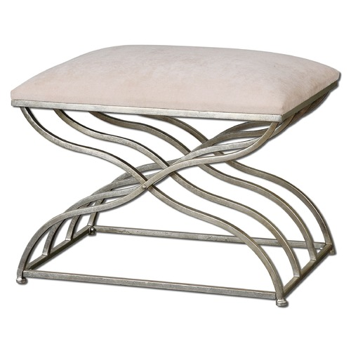 Uttermost Lighting Uttermost Shea Satin Nickel Small Bench 23091