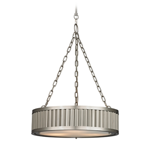 Elk Lighting LED Pendant Light in Brushed Nickel Finish 46114/3-LED