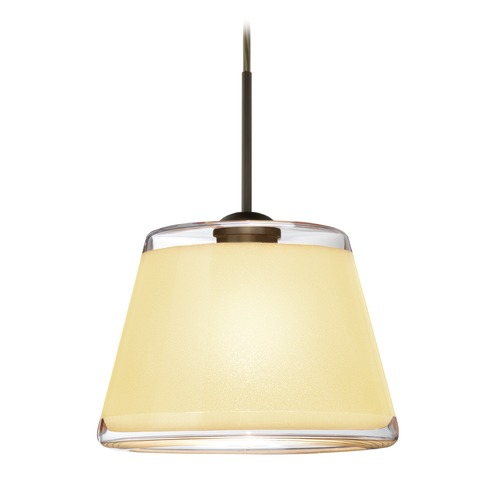 Besa Lighting Besa Lighting Pica Bronze Mini-Pendant Light with Empire Shade 1JT-PIC9CR-BR
