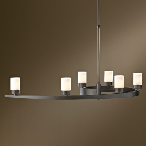 Hubbardton Forge Lighting Hubbardton Forge Lighting Eddy Dark Smoke Pendant Light with Cylindrical Shade 137570-07-G261