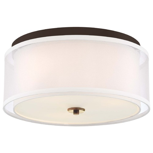 Minka Lavery Minka Lavery Studio 5 Painted Bronze with natural Brush Flushmount Light 3078-416