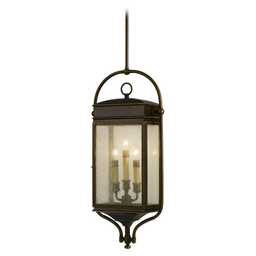 Feiss Lighting Outdoor Hanging Light with Clear Glass in Astral Bronze Finish OL7411ASTB