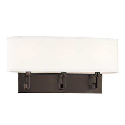 Hudson Valley Lighting Modern Sconce Wall Light with White Shades in Old Bronze Finish 593-OB